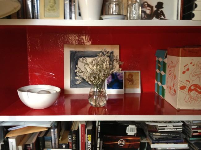 clear bookshelf