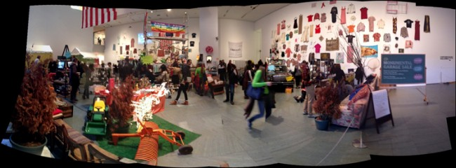 A panoramic view of the show at MOMA.