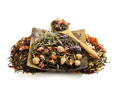 Herbal tea in the evening helps wipe away the stresses of the day.