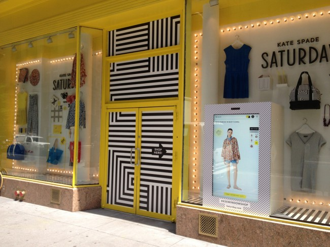 kate spade window shop
