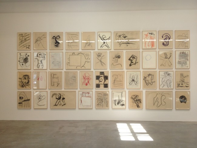 Joe Bradley drawings at Gavin Brown