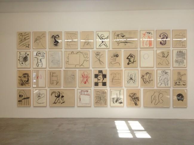Joe Bradley drawings at Gavin Brown