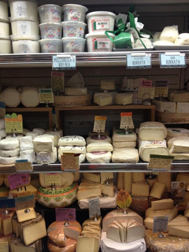 cheese at bi rite in San Francisco