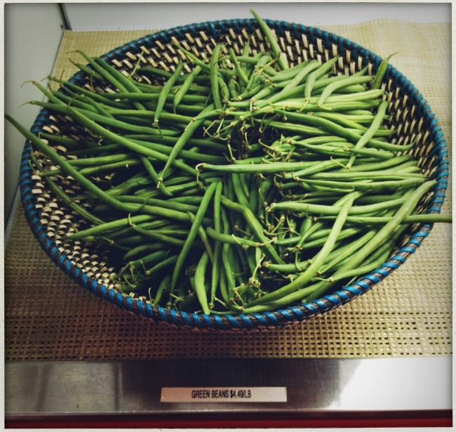 Yummy produce (like these green beans) from local farms.