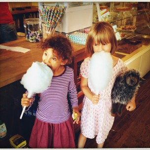 eating cotton candy