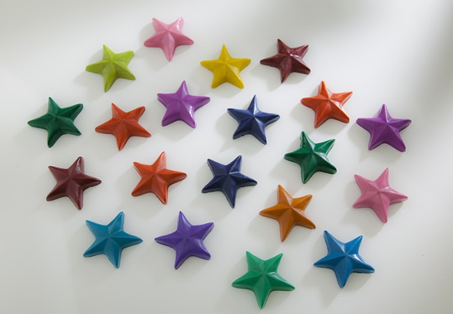 eco stars recycled crayons