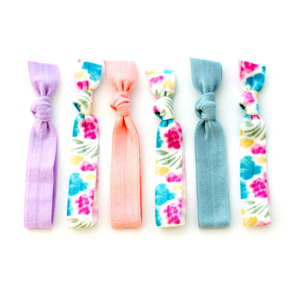 hair ties made from cute elastics