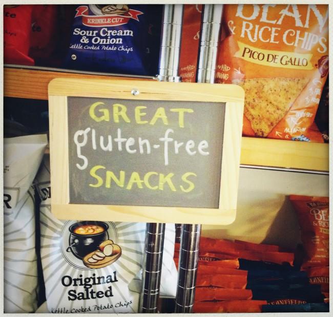 gluten free section