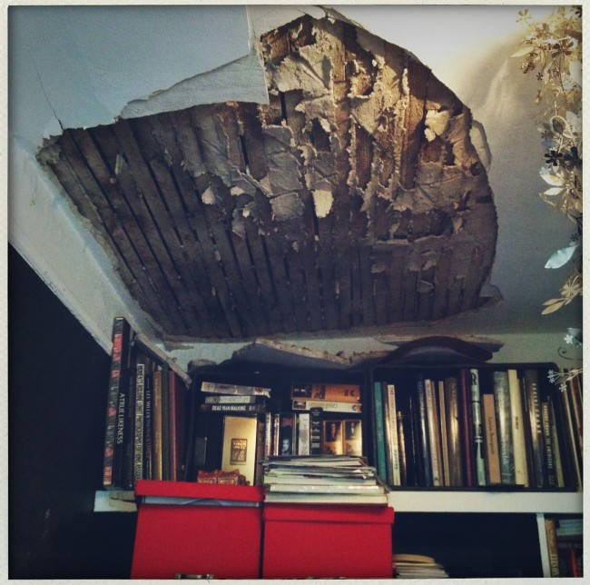 ceiling has fallen in