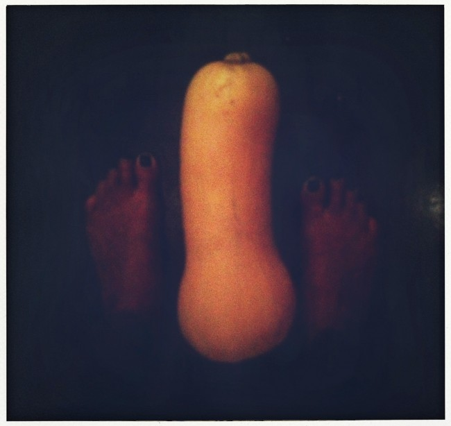 butternut squash and feet
