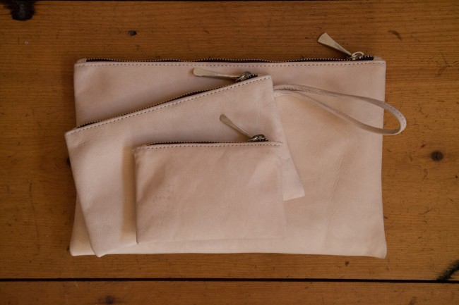 jill platner leather pouches