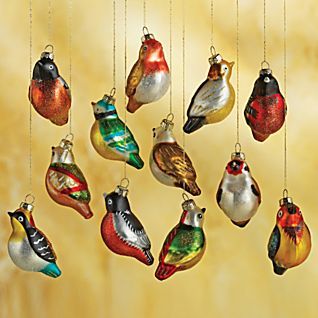 glass bird ornaments