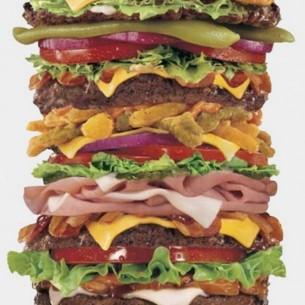 oversized hamburger