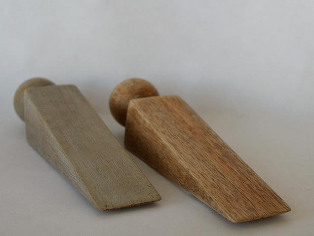 wooden doorstop