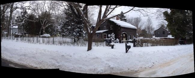 snow n february