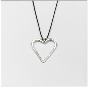 jill platner silver heart