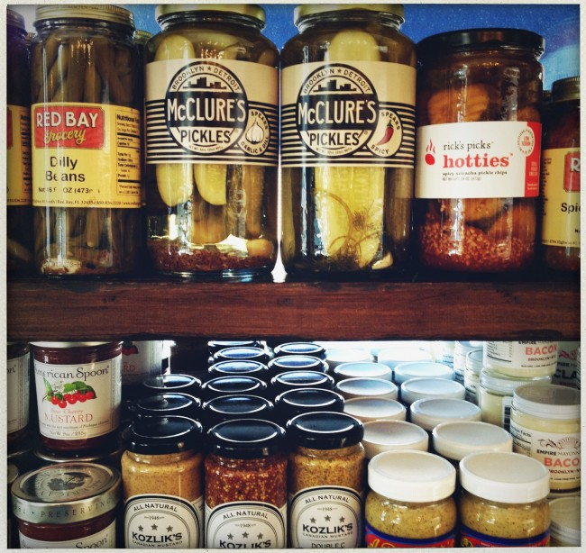pickels at campbells cheese and grocery