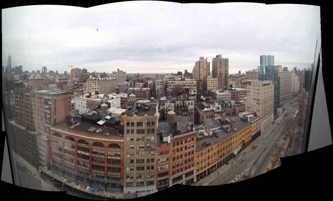 Our view from the Standard Hotel in the East Village.