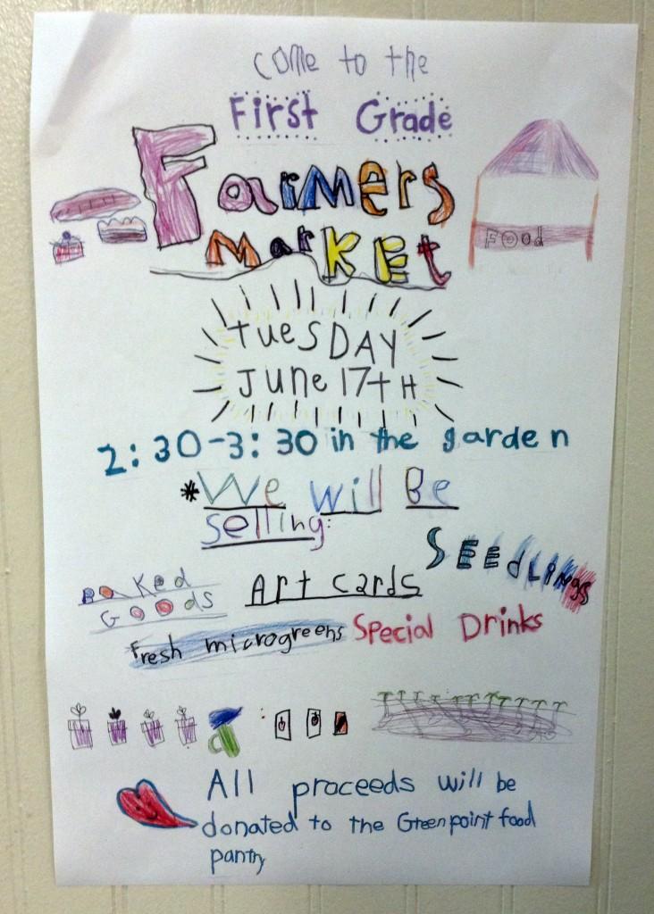 first grade farmers market