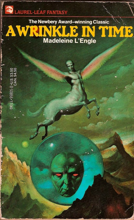 A Wrinkle in TIme, the classic children's science fiction novel by Madeline L'Engle.