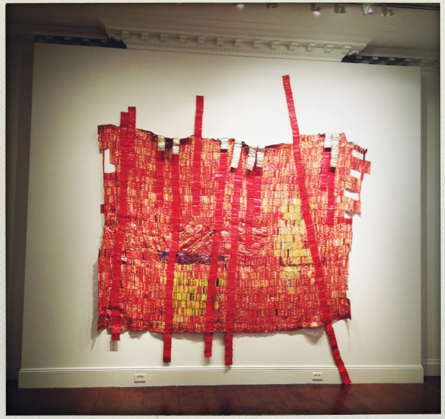Disciples, by El Anatsui at the Mnuchin Gallery.