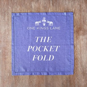 napkin folding on one kings lane