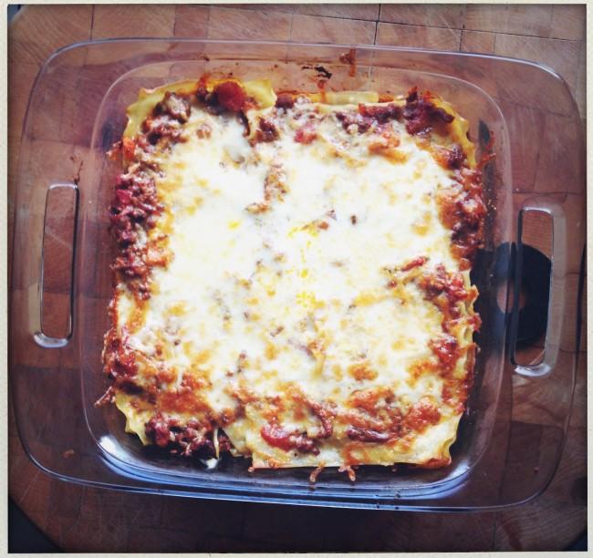 Last Night's Dinner: Lasagna