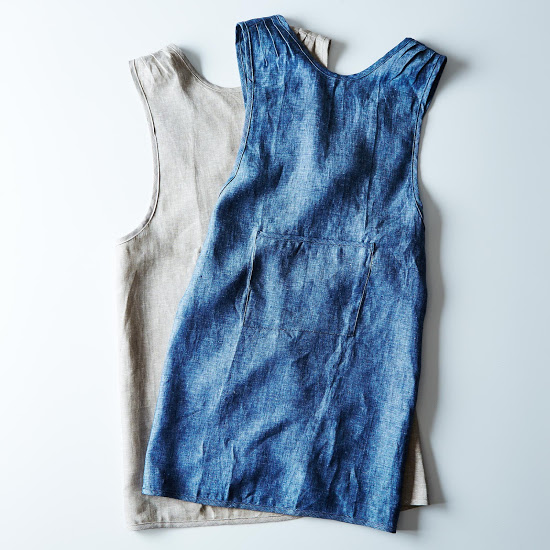 cross back linen apron on Food52. Photo by James Ransom, courtesy of Food52.com