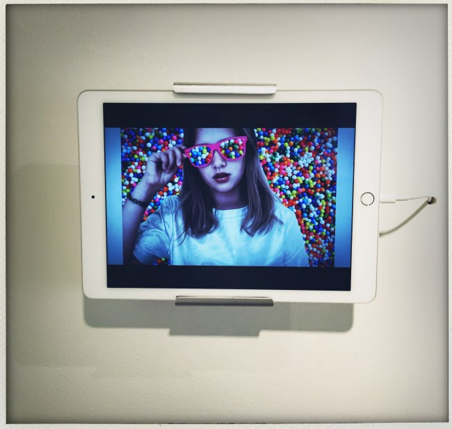 "A Kaia Miller self portrai, as seen in a video as part of the show ""ME"" at Ricco Maresca gallery in NYC."