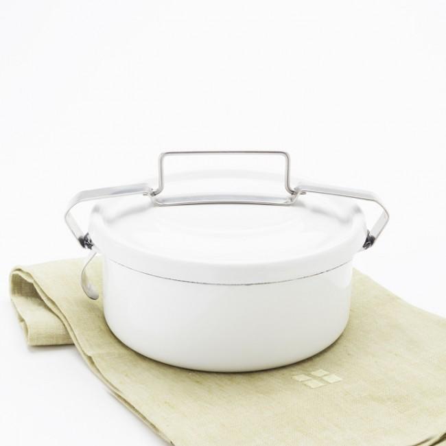 white enamel lunchbox
