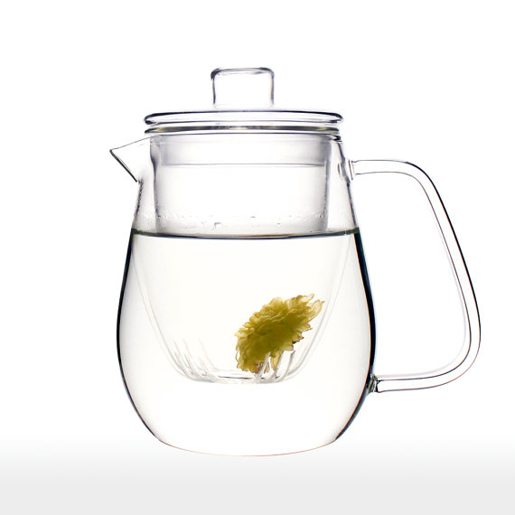 glass teapot etsy
