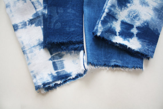 indigo shiboro napkins by shoppromisedland on etsy