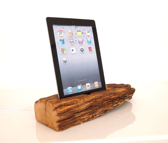 log ipad dock etsy