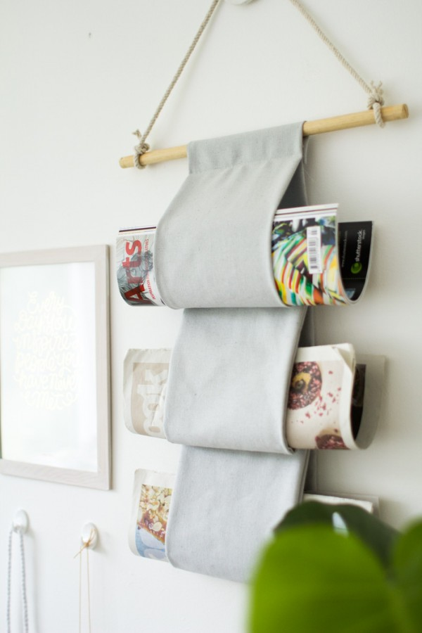 canvas magazine rack