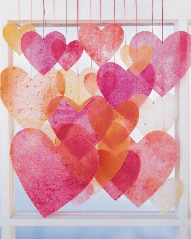 wax crayon hearts