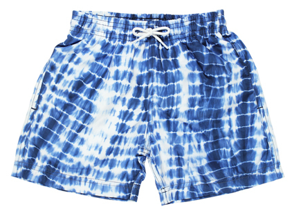 boy tie die swim trunks