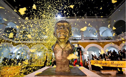 Hundred of butterflies are released to commemorate the life of Gabriel Garcia Marquez