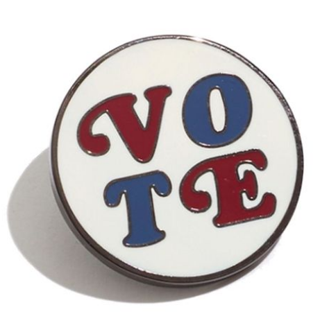 vote pin madewell